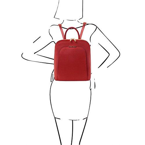Tuscany donna Leather Zaino Rosso TL Saffiano in Rosso pelle Bag TL141631 wwTSBq