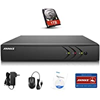 Annke 8CH 5-in-1 1080P Lite Security DVR with 1TB Hard Drive H.264+ HDMI Output, Motion-triggered email alert and Easy Remote View for Home Security Surveillance Camera System