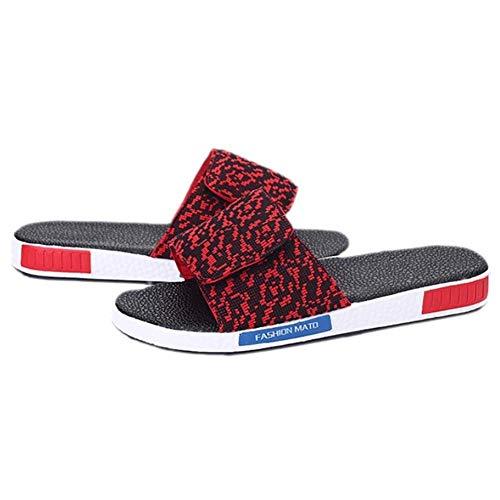 Unisex colore Gomma Dimensione Casual E Infradito Pantofole Piatto 40 Slingback Altro Estate Tacco In Grigio Rosso Eu wSPrwqR
