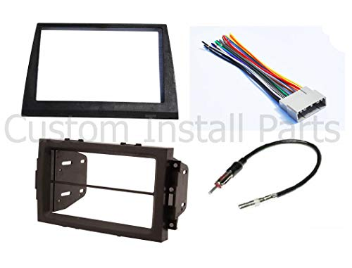 (Double Din Aftermarket Radio Stereo Navigation Bezel Conversion Dash Kit Fitted For Jeep Commander 2006-2007)