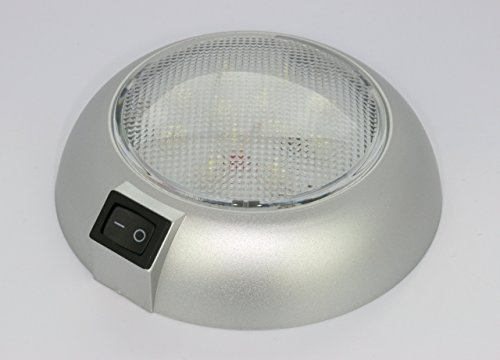 (Battery Powered LED Dome Light - Magnetic or Fixed Mount - High Power White LED Downlight for Home, Auto, Truck, RV, Boat and)