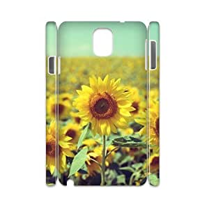 Chinese Beautiful sunflower Custom 3D Case for Samsung Galaxy Note 3 N9000,personalized Chinese Beautiful sunflower Phone Case