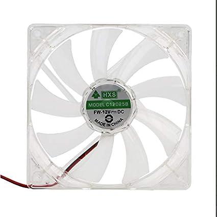 Libertroy Pc Computer Fan Quad 4 Led Light 120mm Caja De La ...