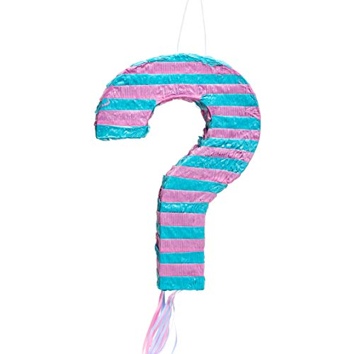 Juvale Small Gender Reveal Pinata, Boy or Girl, Baby Shower Party Supplies, 17 x 12 x 3 -