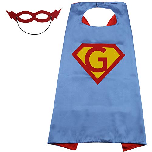 Avengers Superman Kids Cape Toddler Girl Boys Costume Superhero Cape Boy Gift Blue]()