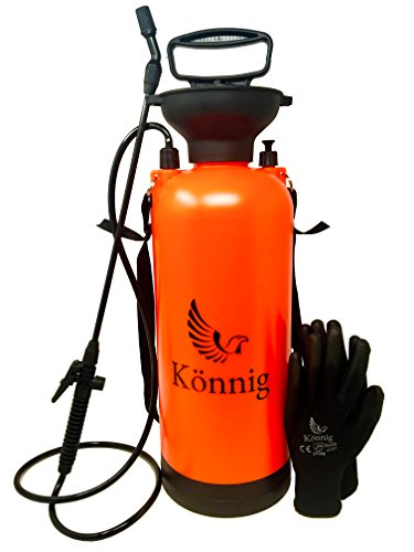 (Könnig 1.85 Gallons/7L Lawn, Yard and Garden Pressure Sprayer For Chemicals, Fertilizer, Herbicides and Pesticides with FREE Pair of Garden)