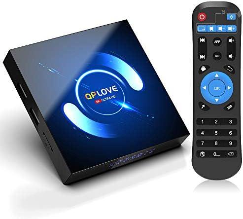 Android 10.0 TV Box [4GB RAM 64GB ROM], 2021 Newest Android Box Ultra HD 3D 6K 4K H616 Quad Core 64bit Android TV Box, Support Bluetooth 5.0/Dual WiFi 2.4G 5G/100M LAN/USB 2.0 Smart TV Box