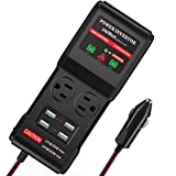 BMK 300W Car Power Inverter DC 12/24V to 110V AC DC Adapter 2 AC Outlets 4 USB Ports Charger Adapter Car Plug Converter with Switch and Cigarette Lighter Socket