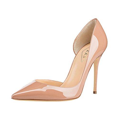 EKS - Zapatos de tacón fino Mujer - Nackt