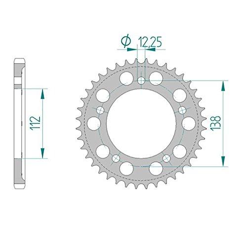 couronne-11613-46-aluminium-525-pour-honda-cb-600-ffa-hornet-pc41-abs-alu-2007-2013-honda-cbf-500-a-