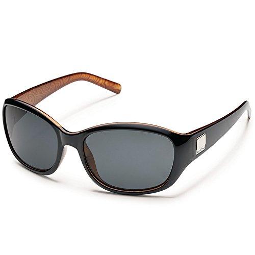Suncloud Iris Polarized Sunglasses(Gray Polarized,Black Backpaint), ()