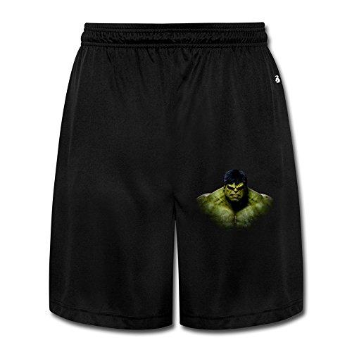 Men's Boy's Hulk Bruce Banner Head Workout Shorts XL Shorts Pants.