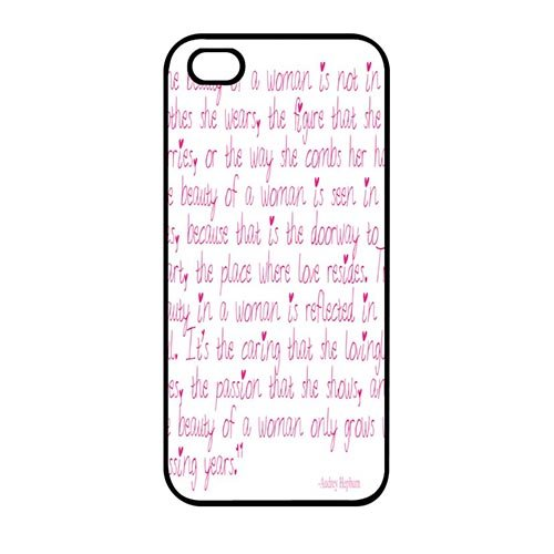 Coque,Custom Girly Audrey Hepburn Quotes Hard Phone Cover Case Covers for Coque iphone SE & Coque iphone 5 & Coque iphone 5S