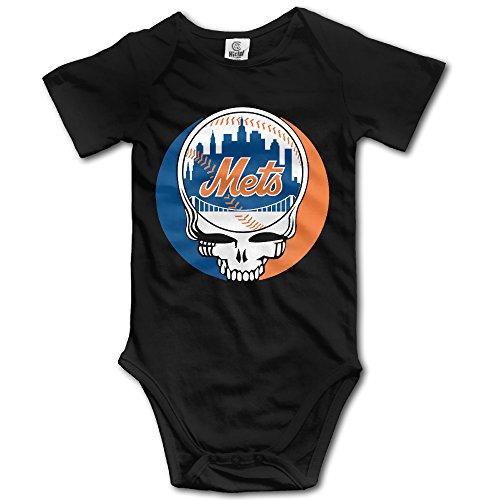 Grateful Mets Dead Logo Short Sleeve Romper Jumpsuit - Itunes Logo