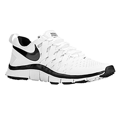 nike mens free trainer 5.0 black and white