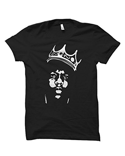 Iconic Biggie Smalls Notorious B.I.G. Crown Shirt Mens,Black,Large (Tupac Ring)