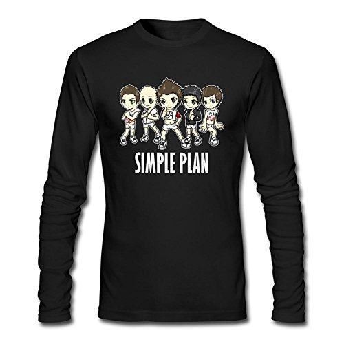 (Tommery Men's Simple Plan Long Sleeve Cotton T Shirt)
