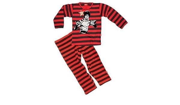 Póster mural de Bruce Lee de Luca Johnson niños 7 - de tigre en la pijama de 8 años (rojo/negro): Amazon.es: Ropa y accesorios