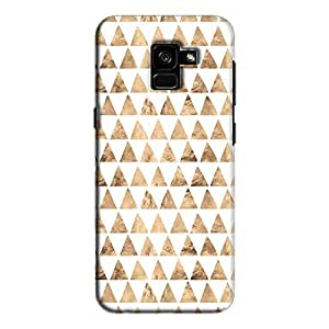 Cover It Up - Brown White Triangle Tile Galaxy A8 Plus Hard Case