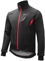 ROCKBROS Men's Winter Cycling Jacket Thermal Fleece Windproof Biking Running Softshell Super
