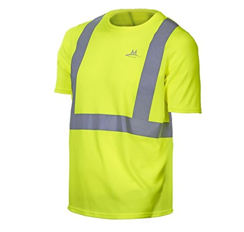 Mission Enduracool Saftey T-Shirt Safety Yellow - Yellow T-shirt Smiley