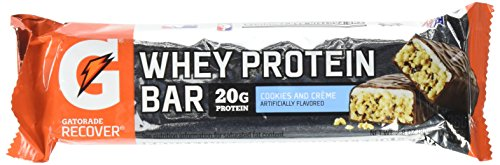 (Gatorade Recover Whey Protein Bar Cookies and Creme, 2.8 Ounce )