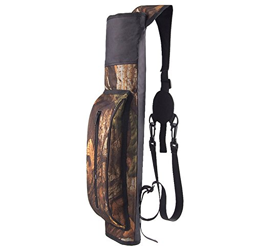 XTACER Waterproof Ultralight Quiver Hunting Training Camo Archery Arrow Quiver Holder Bow Belt Shoulder Bag Pouch (Maple Camo - Upgrade)