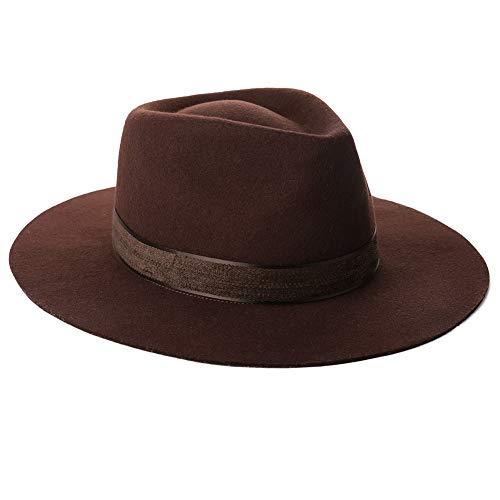 (Mens Women Homburg Gangster Hat Wool Felt Fedora 1920s Derby Hat Frank Sinatra Manhattan Mafia Godfather Winter Accessories Brown)