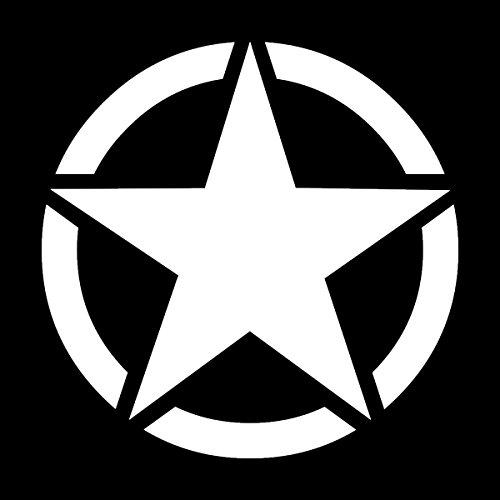 "Wild Dingos LLC Army Circle Star 6"" Military Wiliys Restoration Vinyl Decal Sticker White"
