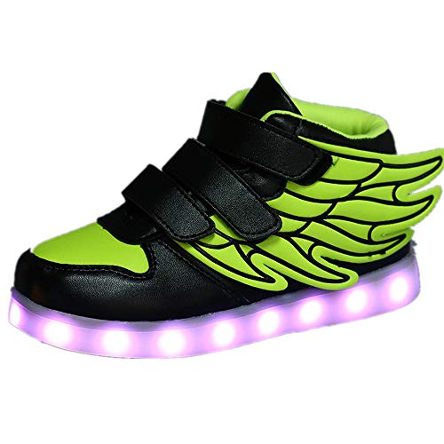 Sunny Day Children's Luminous Shoes Sneakers USB Charging Running Shoes(Green-25/8 M US Toddler) (Kaufen Sunnies Online)