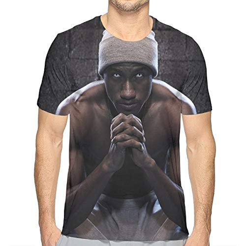 JosephG Mens Hopsin Design 3D Printed Short Sleeve T Shirts White M