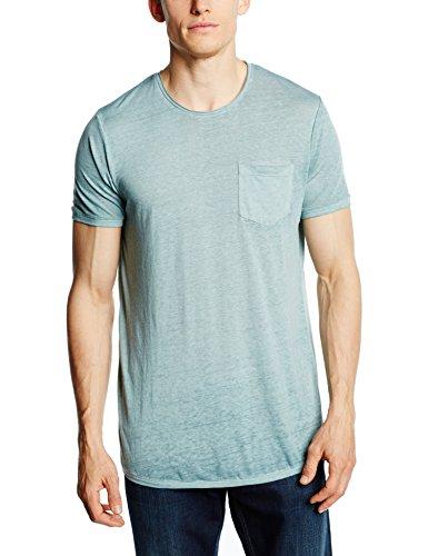 JACK & JONES Herren T-Shirt Jorburns Tee SS Crew Neck, Blau (Surf Spray Fit:Slim), Large