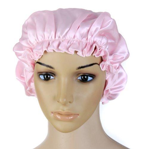 Pure Silk Night Sleep Cap Sleeping Cap Hat (Pink), Outdoor Stuffs