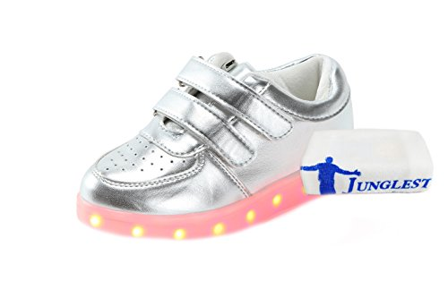 Mujeres a Glow Hombres Unisex Colores USB Deportivos Zapatos de Sneakers LED Carga Peque Flashing junglest Luminosos Luz 7 Toalla c9 Presente Light Up EqOxYnwpg
