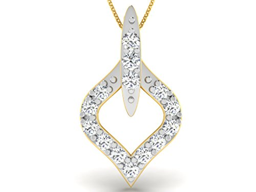 Or Jaune 14 ct Pendentifs Diamant , 0.06 Ct Diamant, GH-SI, 0.39 grammes.