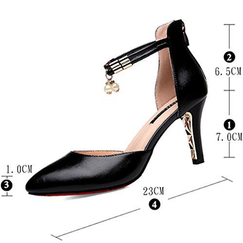 Noir Taille Pour À Mode Talons Talon Hwf Hauts Sandales Pointu Femmes Couleur Chaussures Femme 39 Mi 4Ovwv6T1