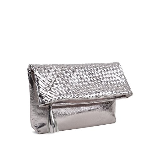 Gun Metal Minion Los Leather Women's Angeles Waterlily Clutch POq40