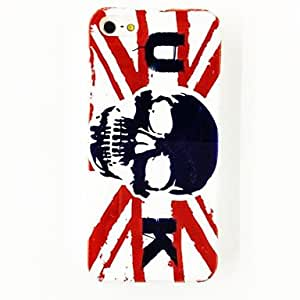 HP DFPunk The United States Flag Skull Pattern TPU Soft Case for iPhone 5/5S , Multicolor