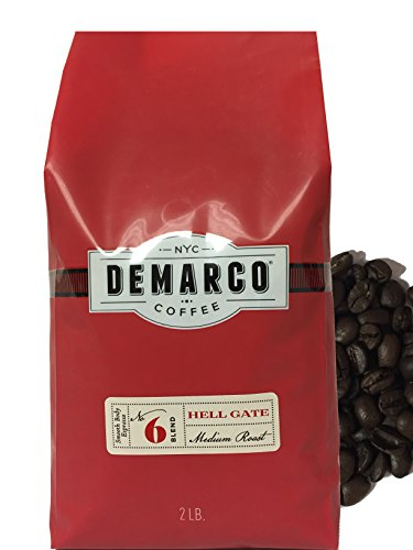 Demarco Coffee Whole Bean Micro Roasted premium Coffee Beans - Roasting Small batches Daily in NY - [HELLGATE ESPRESSO-Medium Roast] (2LB) Our Strongest & most Robust - List Designer All Of Brands