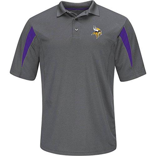 (Minnesota Vikings Adult Medium Performance Short Sleeve Polo Shirt -)
