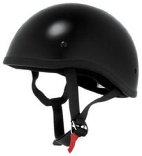 (Skid Lid Original Half Helmet In Solid Black Large)