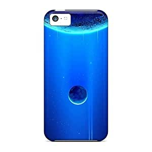 DaMMeke Case Cover For Iphone 5c - Retailer Packaging Moon And Earth Protective Case WANGJING JINDA