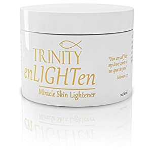 Skin Lightening Cream - enLIGHTen - Miracle Skin Lightener - Fade Cream Lightens Using Natural Ingredients. For Age Spots - Melasma - Hyperpigmentation - Brightening and Whitening. Skincare for Believers!