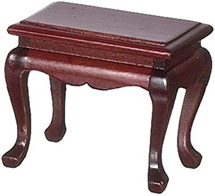 Dollhouse Miniature Furniture Mahogany Wooden End Table //Coffee Table DIY