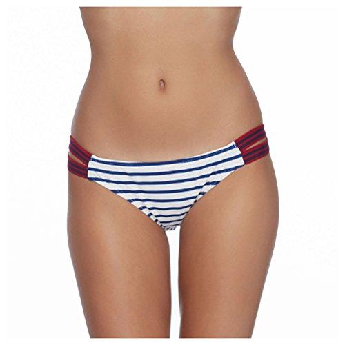 Body Glove Women's Samana Flirty Surfrider Bottoms Midnight Swimsuit (Ride Stretch Gloves)