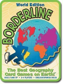 World Edition Borderline - The Best Geography Card Game on Earth - Ages 8 and up