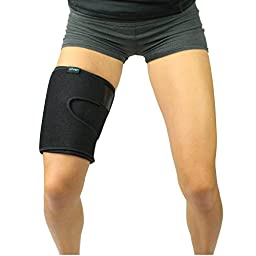 Thigh Wrap by Vive - Pulled Hamstring Strain Support for Injury - Torn Hamstring Brace for Tendinitis, Leg Pain, Muscle Pull or Strain, Soreness - Neoprene Compression Sleeve