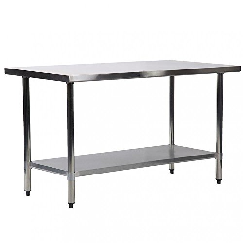 24''x60'' Stainless Steel Kitchen Work Table Commercial Kitchen Restaurant Table by Mr Direct