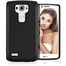 LG G4 Case, MagicMobile (Black/Black) Dual Layer Color - Slim Hybrid Shockproof Silicone Protective Case For LG G4 - Scratch & Impact Resistant, Anti-Dust Protection Rugged Tough Cover