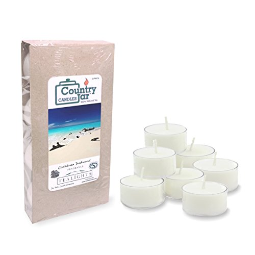 Country Jar Caribbean Teakwood Soy Tea Light Candles (8-Pack/.75 oz. ea.) Spring Pick-3 Sale! See Details.